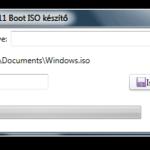 Boot képfájl készítő Windows telepítőfájlokról